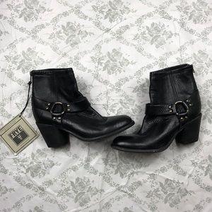 Frye black booties sz 8 B